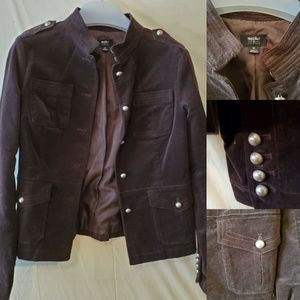 COPY - M | FAUX SUEDE MILITARY STYLE BROWN JACKET